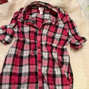 Justice flannel top